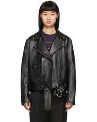 Acne Studios Black Leather New Merlyn Jacket