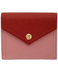 Miu Miu Pink And Red Small Envelope Wallet