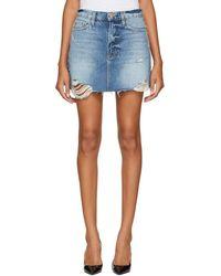 FRAME - Blue Le Mini Miniskirt - Lyst