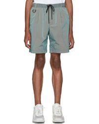 John Elliott Green Cat Edition Iridescent Nylon Running Shorts
