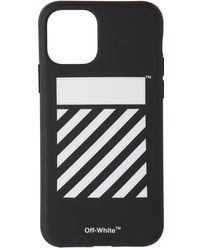 Off-White c/o Virgil Abloh ダイアゴナル Iphone 11 Pro ハード ケース - ブラック