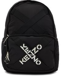 KENZO - ブラック Sport ロゴ バックパック - Lyst