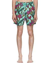 Vilebrequin - Multicolor Moorea Paradise 3d Swim Shorts - Lyst