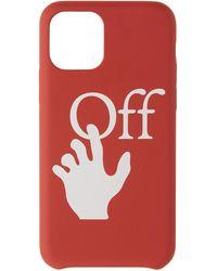 Off-White c/o Virgil Abloh レッド ハンズ オフ Iphone 11 Pro ケース