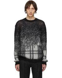 Isabel Benenato ブラック And ホワイト グラディエント セーター