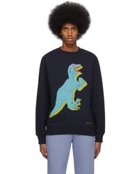 PS by Paul Smith Navy Big Dino Sweatshirt - Blue