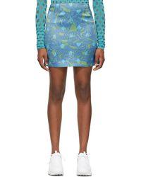 Maisie Wilen Green & Blue Dial-up Skirt