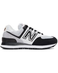 New Balance - ブラック & ホワイト 574 スニーカー - Lyst