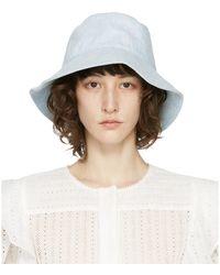 Isabel Marant Blue Loiena Bucket Hat - Multicolour