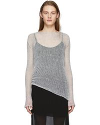 Ann Demeulemeester - Grey Corolla Pullover - Lyst