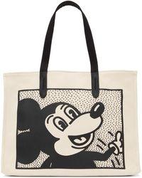 COACH Keith Haring エディション ベージュ And ブラック Mickey トート - ナチュラル