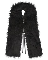 MM6 by Maison Martin Margiela Black Hairy Scarf