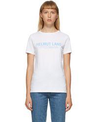 Helmut Lang - ホワイト ロゴ T シャツ - Lyst