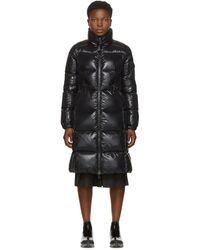 Moncler Ladies Black Moyadons Shell-down Coat