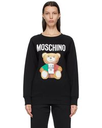 Moschino - ブラック Italian Teddy Bear スウェットシャツ - Lyst