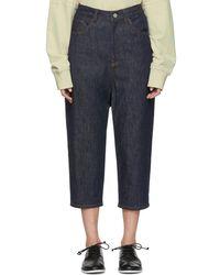 Y's Yohji Yamamoto - Indigo Gusset Drop Jeans - Lyst