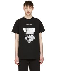 Hood By Air T-shirt noir Wench Laura Face