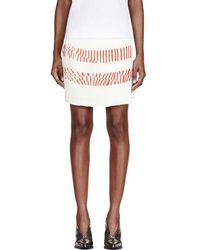 Maiyet - White Silk Printed Pleated-paneled Skirt - Lyst