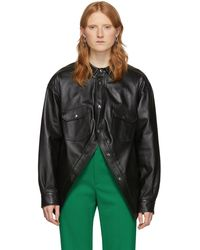 Balenciaga ブラック スウィング カナディアン ジャケット