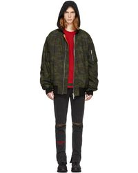 Unravel | Green Camo Canvas Oversized Bomber Jacket | Lyst