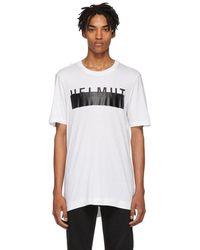 Helmut Lang - White Oversized Logo T-shirt - Lyst