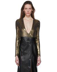 Gucci Gold Metallic Bodysuit