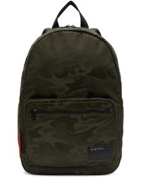 DIESEL - Green Camo F-discover Backpack - Lyst