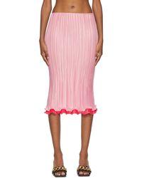 Versace ピンク プリーツ スカート