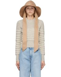 AMI Cotton Wide Brim Hat - Natural