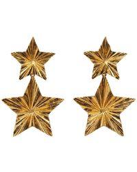 Saint Laurent - Boucles doreilles dorees Stars - Lyst