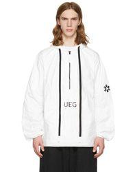 Ueg | White Tyvek® Hooded Pullover Jacket | Lyst