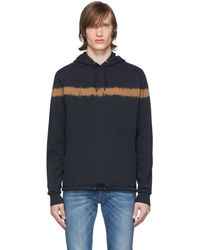 PS by Paul Smith Navy Tie-dye Hoodie - Blue