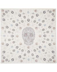Alexander McQueen - Off-white Silk Lost At Sea Scarf - Lyst