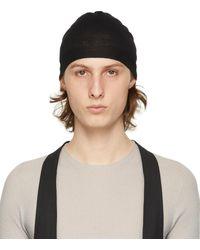 Rick Owens Bonnet en laine noir