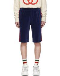 Gucci Short en velours bleu Jogging