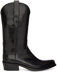 Brioni Black Cowboy Boots