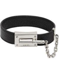 Amiri Pebbled Jax Bracelet - Black