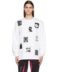 Kidill Jesse Patch Long Sleeve T-shirt - White
