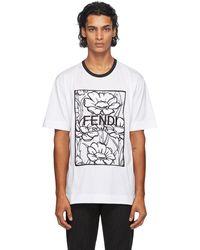 Fendi White Joshua Vides Edition Floral T-shirt