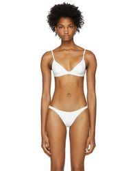 Her Line - White Ava Bikini Top - Lyst