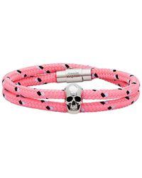 Alexander McQueen Pink Skull Friendship Bracelet