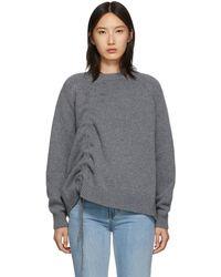 McQ グレー ドローストリング セーター