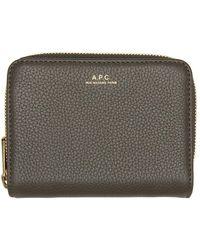 A.P.C. Gray Emmanuelle Compact Wallet