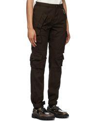 Reese Cooper Pantalon cargo brun en coton léger - Marron