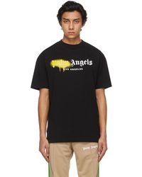 Palm Angels - ブラック La ロゴ T シャツ - Lyst