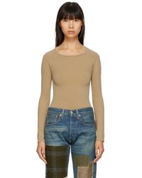Junya Watanabe - Beige Long Sleeve T-shirt - Lyst