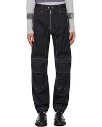 GmbH Pantalon Yolanda noir en sergé