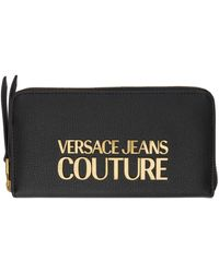 Versace Jeans Couture ブラック ロゴ ウォレット
