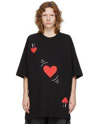 Undercover T-shirt graphique noir et rouge