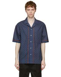 President's Chemise à manches courtes et imprimé bleu marine Rapallo Rangi